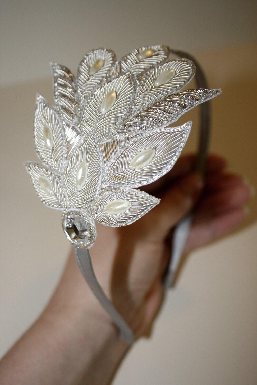 Баронесса Шелковый Платиновый повязка