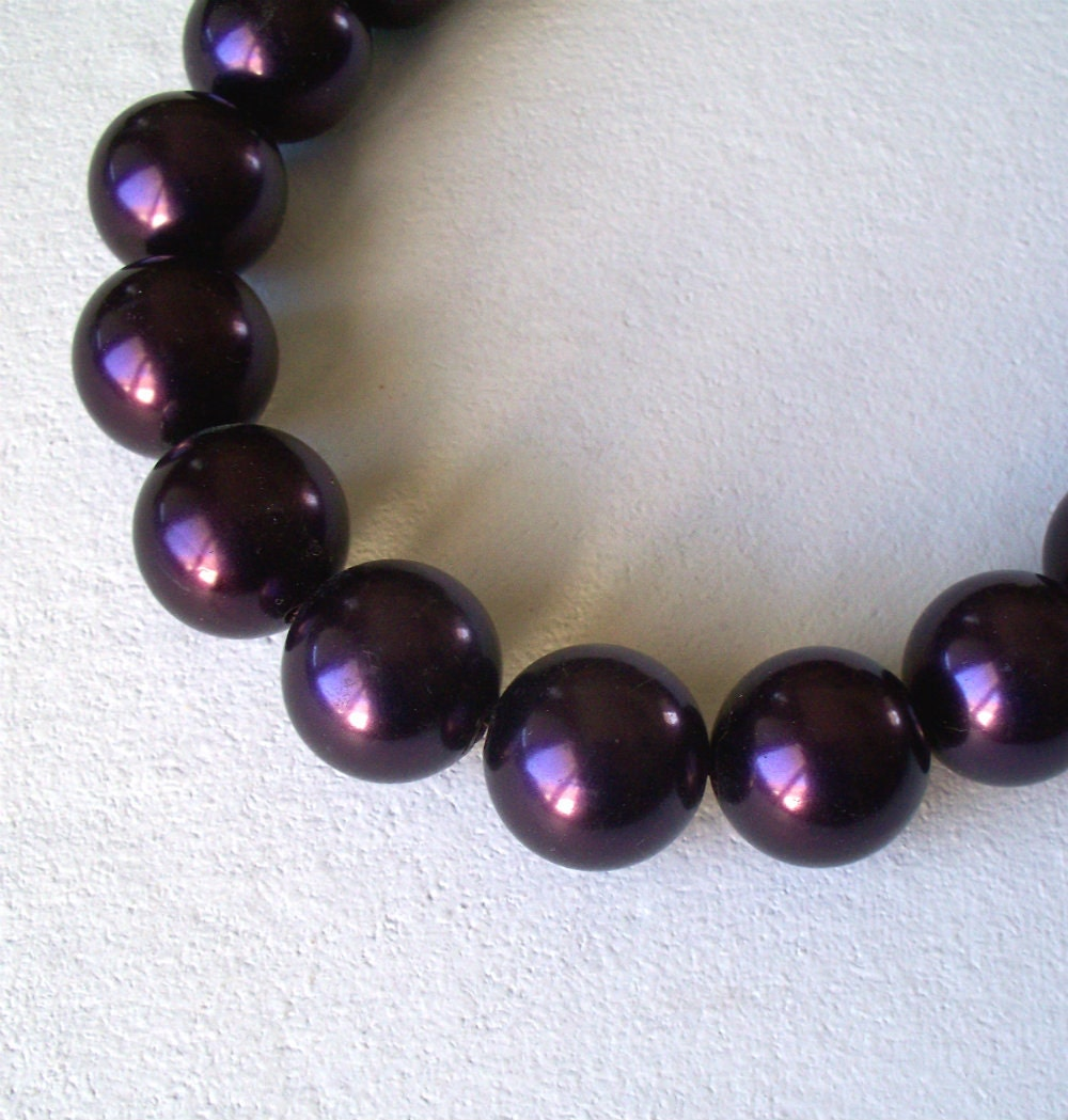 Large Dark Purple Beads - 10 count - vivatreginasupplies