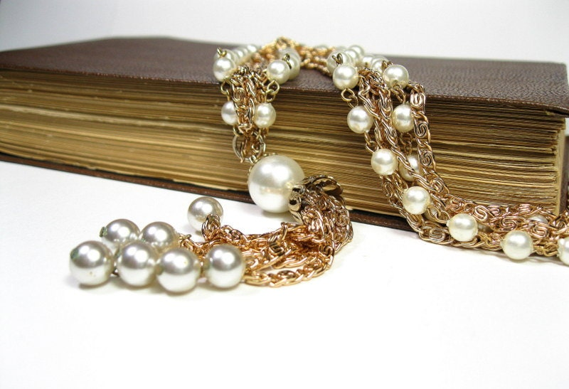 Vintage, 1960s, Mad Men, Style, Pearl, Necklace