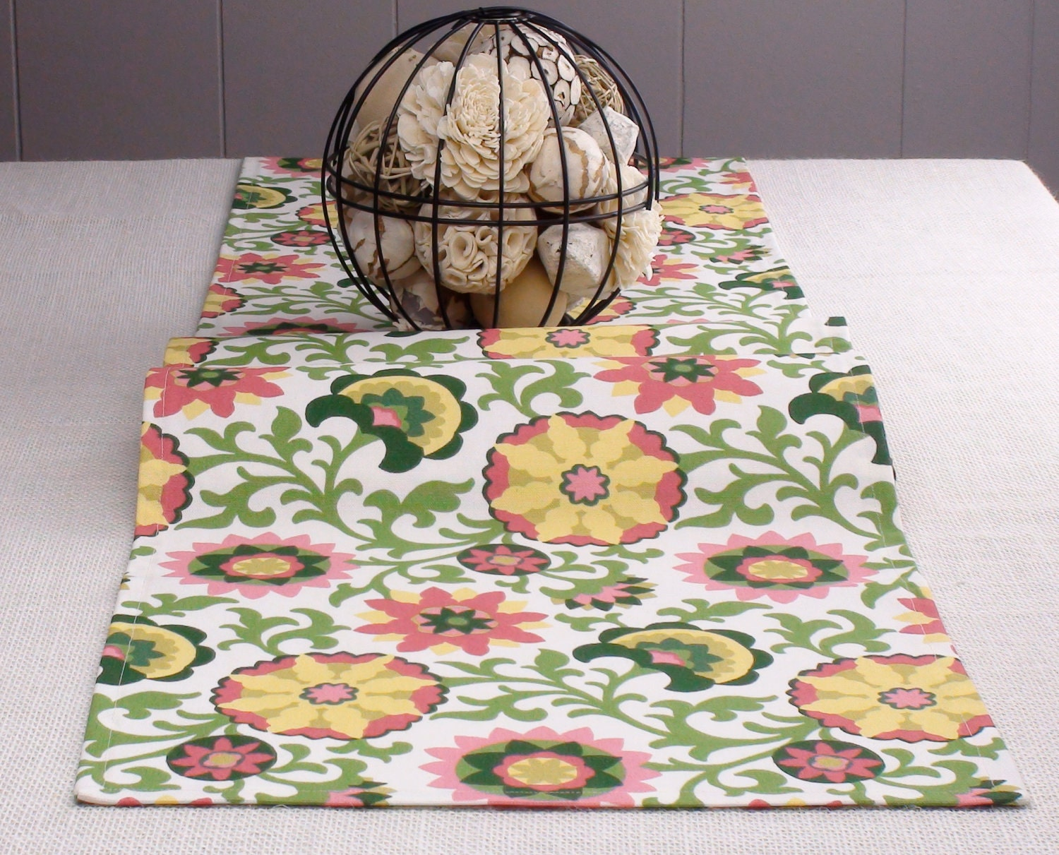 Popular items for yellow table runne on Etsy