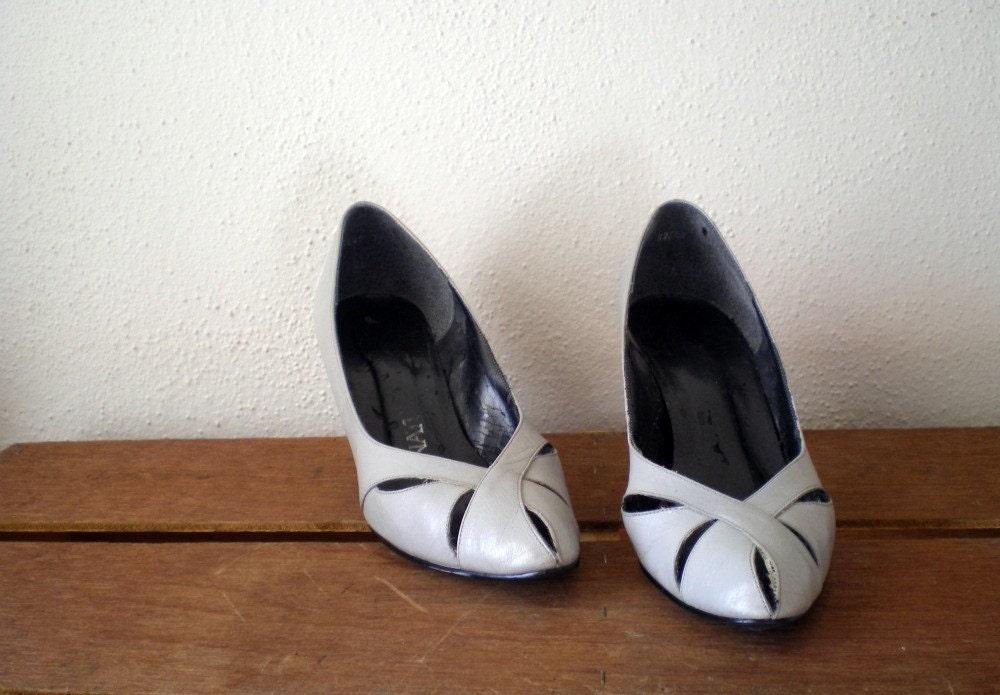 vintage grey heels