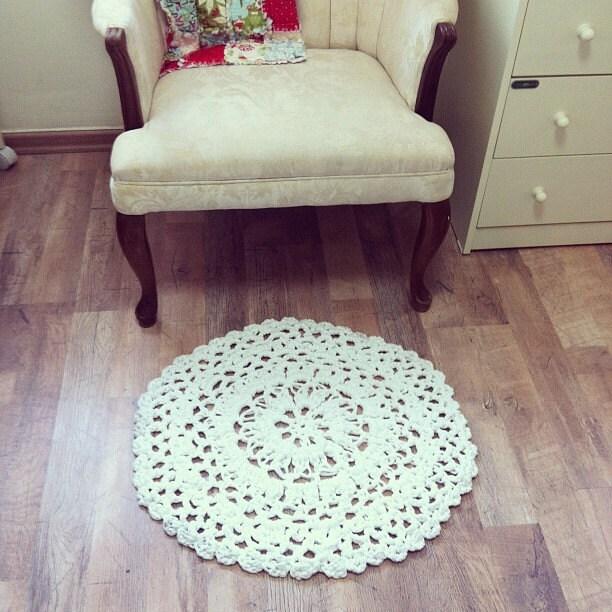 Doily Rag Rug Crochet