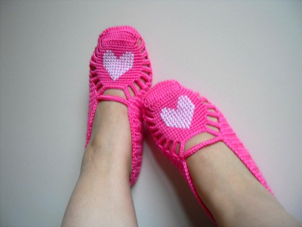 روز ولنتاین هدیه و ترکیه دمپایی صفحه اصلی -- سفید قلب یک آبنبات صورتی -- کفش دست دوزی ولنتاین زمستان مد TeamT
