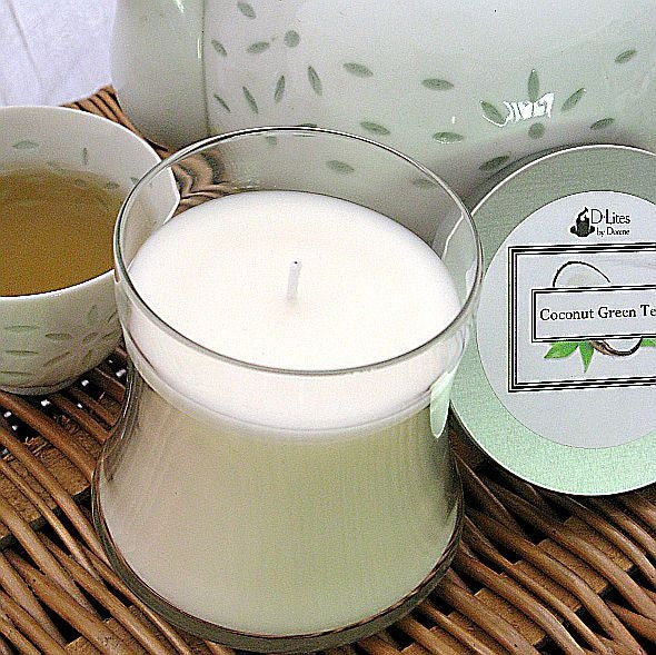 Coconut Green Tea 12 oz. candle