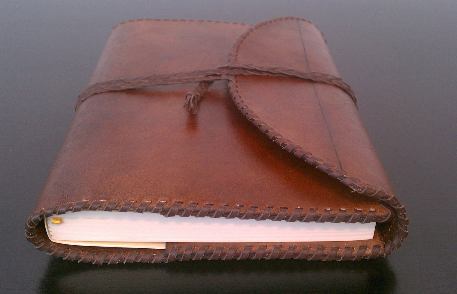 Brothers and Craft Leather Journal w/ Refillable Ruled Filler - BrothersandCraft