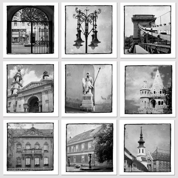 Черно-белая коллекция Венгрия - 5 х 5 - Европа - Венгрия стока - художественной фотографией - Стена Декор - Венгрия Фото
