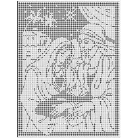 Free Filet Crochet Patterns For Christmas : CHRISTMAS FILET CROCHET PATTERNS Crochet Patterns