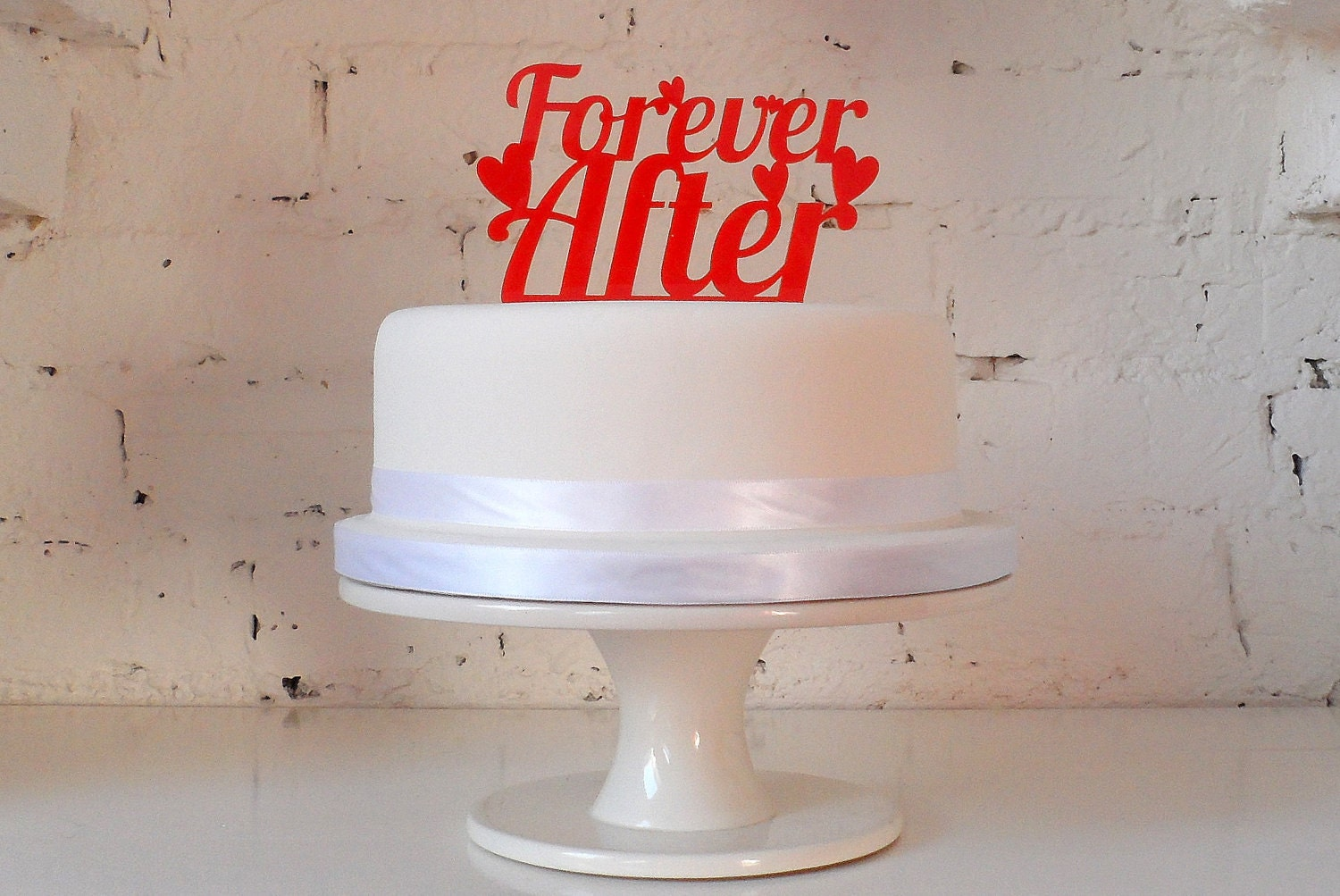 Forever After Cake Topper
