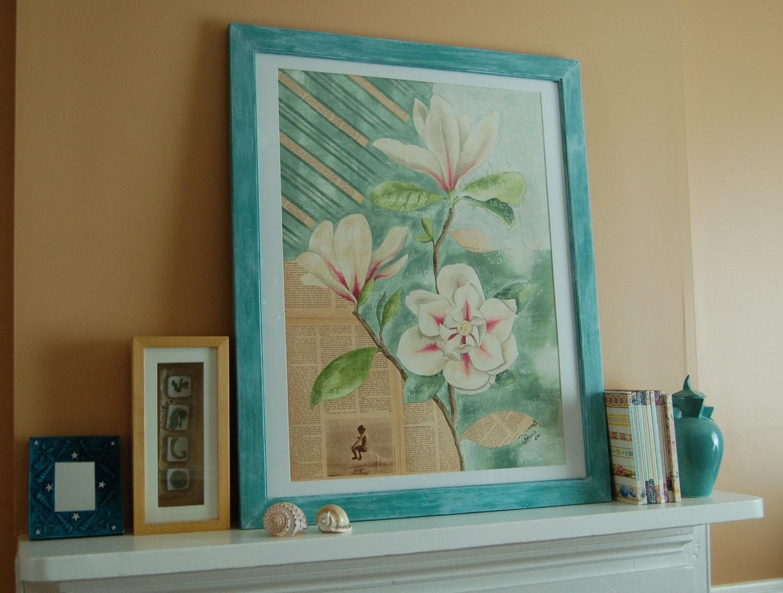 Magnolia Painting - SOhandmade1
