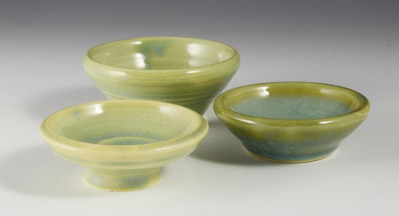 Porcelain mini bowls - Xaviers warm jade green glaze