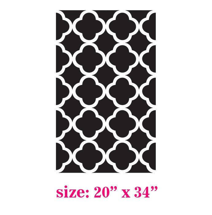 Sienna Beautiful Quatrefoil Four Leafs Clover  Moroccan inspired Modern  Designer allover Pattern Stencil for Walls Decor better than Vinyl