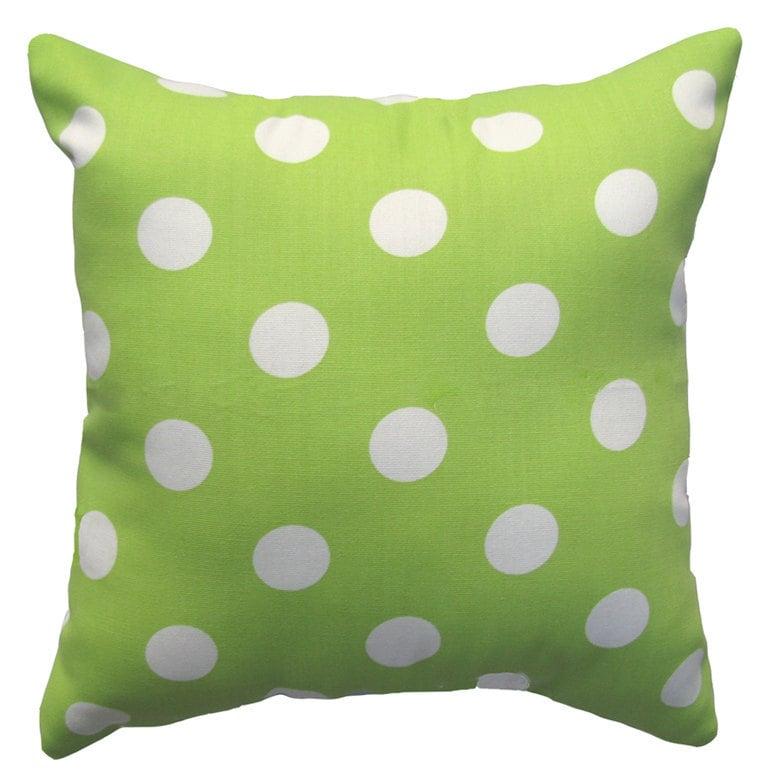 Lemon Green Throw Pillow : JULY 4TH SALE Lime Green Throw Pillow by LandofPillowsDotCom