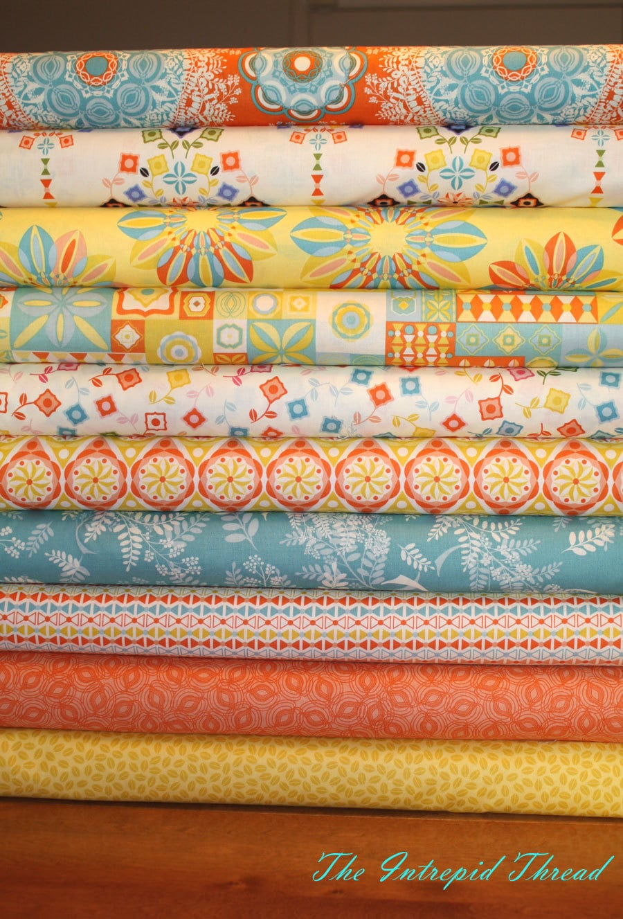 Power Pop - Fat Quarter Bundle in Orange and Freesia by Jenean Morrison  Fabric Quilt Cotton