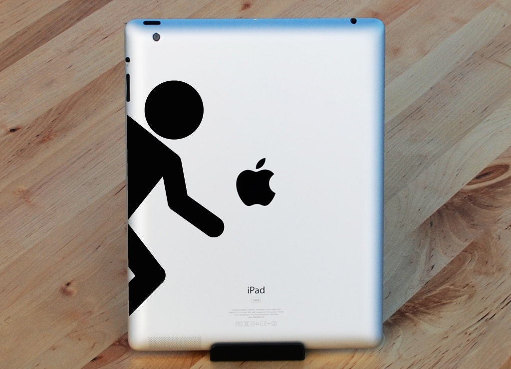 Portal Figure Macbook Decal