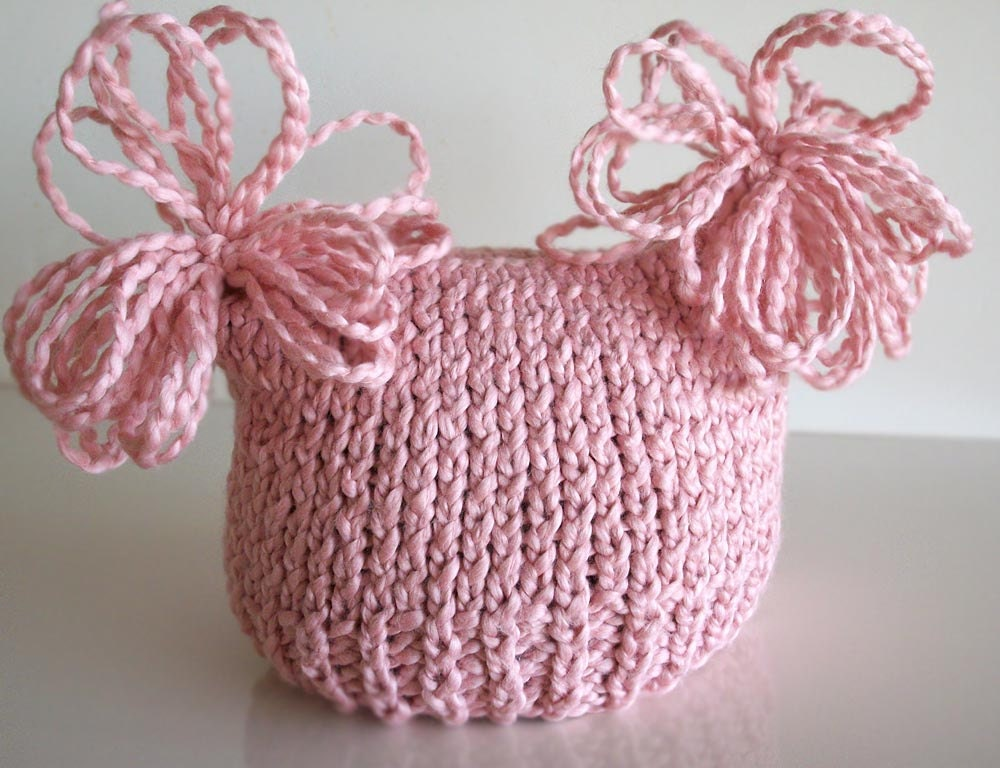 organic cotton sack hat strawberry pink newborn-ready to ship