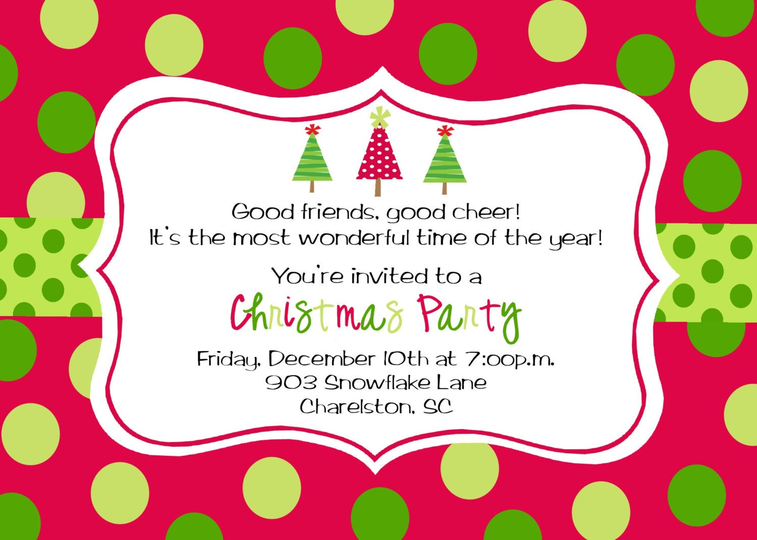 Christmas Party Invitations Wording Christmas invitation