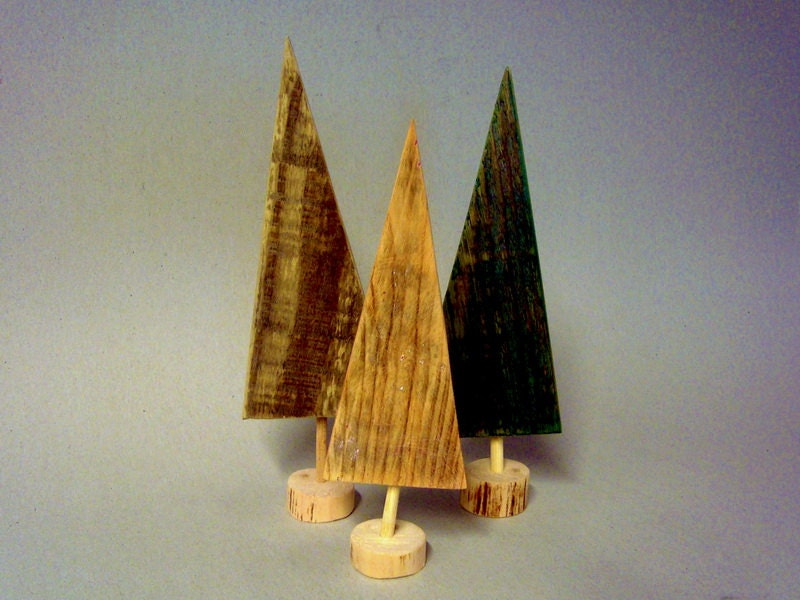 Christmas decor - 3 Pallet wood Christmas trees set - gift