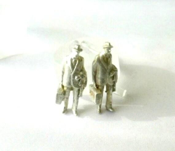Stud earring sterling silver-Han