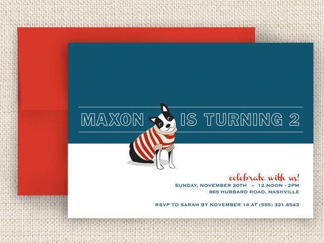 DogThemed Birthday Party Invitations – Dog Themed Birthday Party Invitations