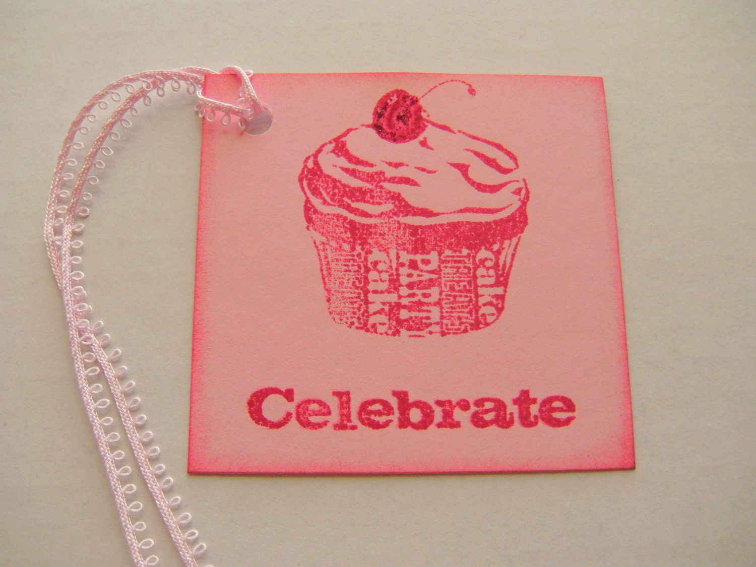 Celebrate Birthday Cupcake Gift Tag Set - creativedesigns