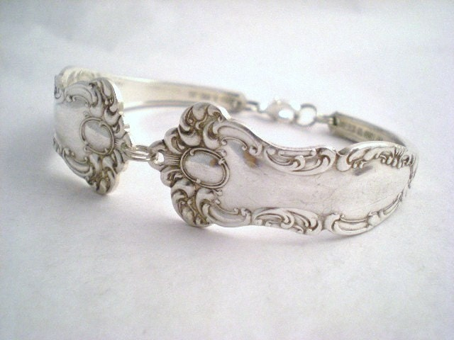 Antique Spoon Bracelet Silverware Jewelry Silver  - OXFORD 1901