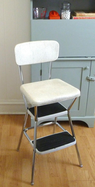 Folding Padded Step Stool Chair