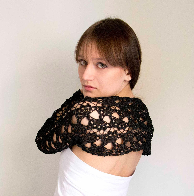 Crochet  black shrug