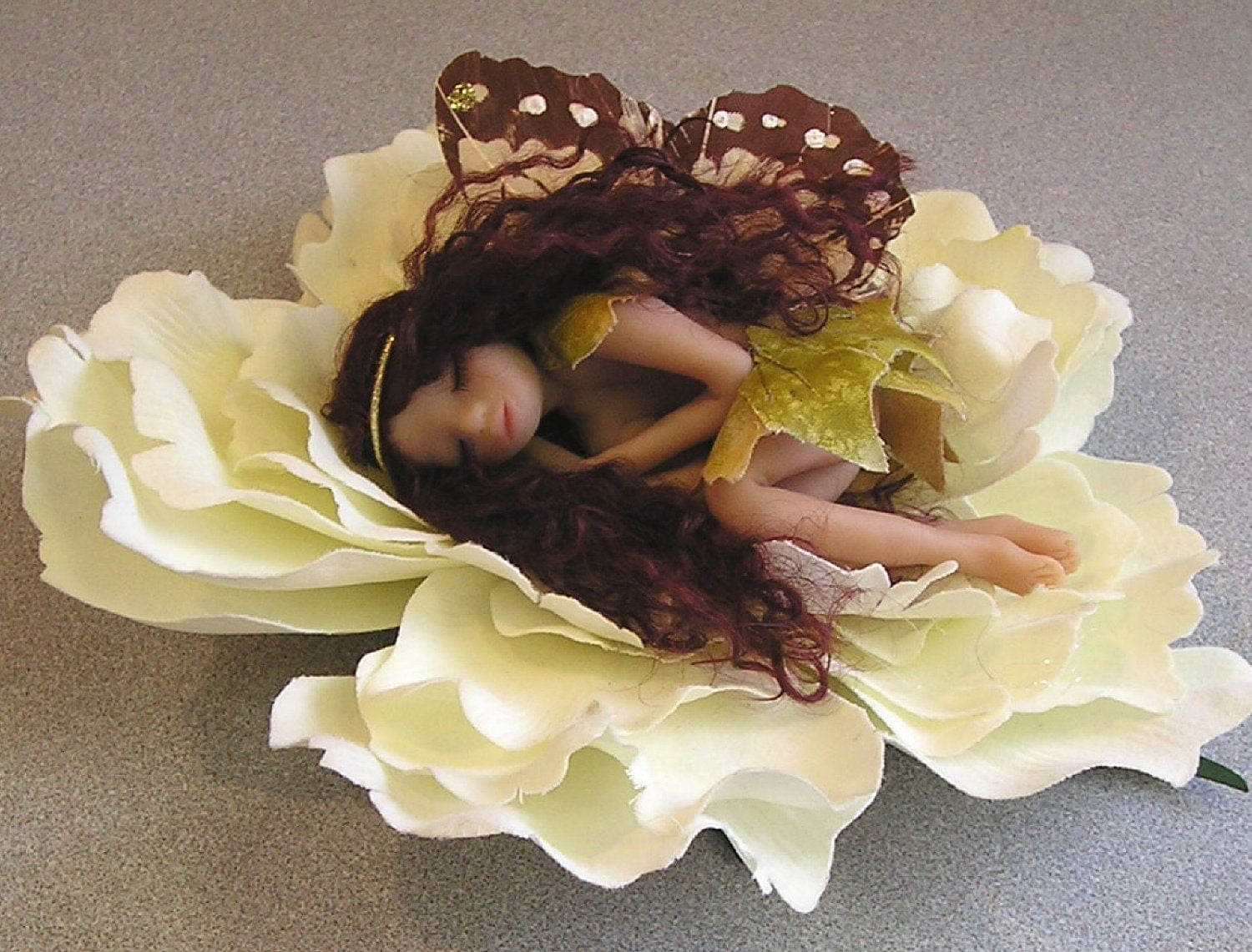 Angel Fairy miniature ooak fantasy doll hand sculpted polymer clay art doll