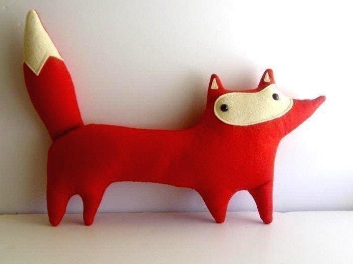 handmade plush red fox, Liam