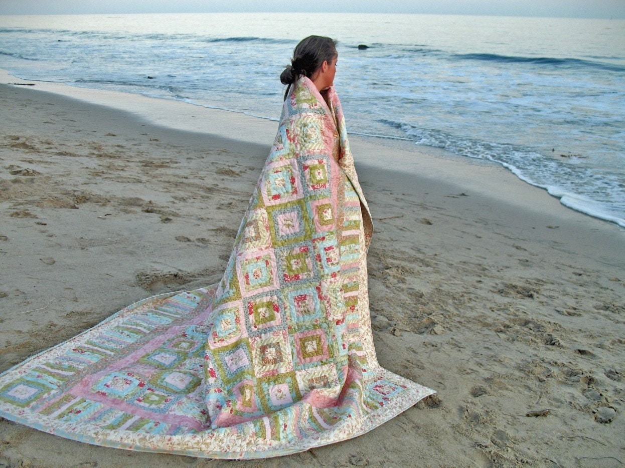 Shabby Chic Quilt-Custom Order - marymcnultydesign