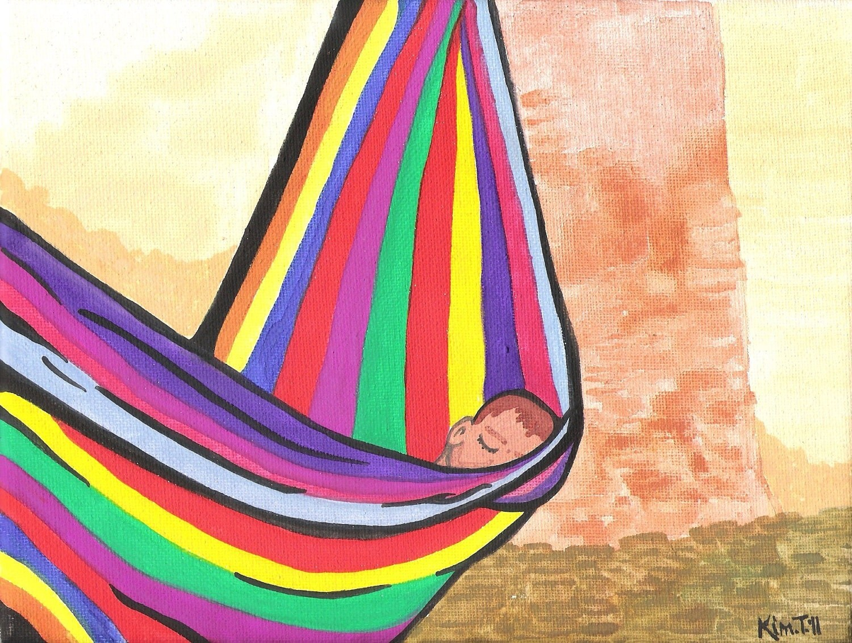 african baby in hammock