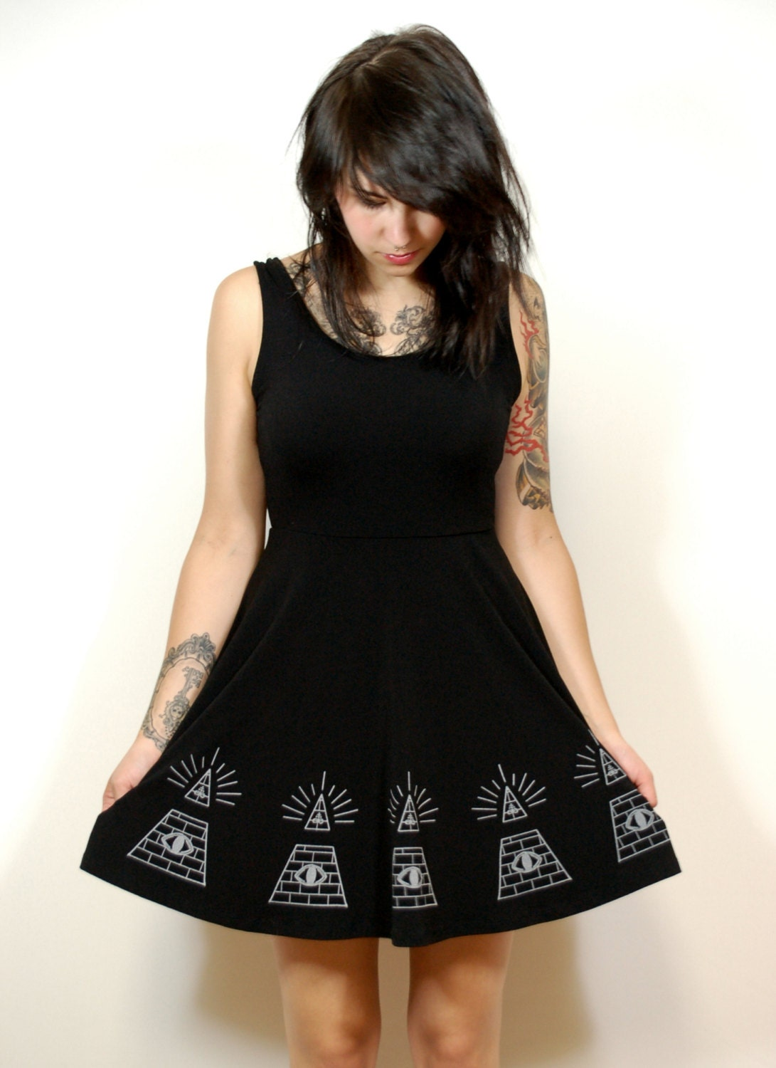 Illuminati Skater Dress-Made to order