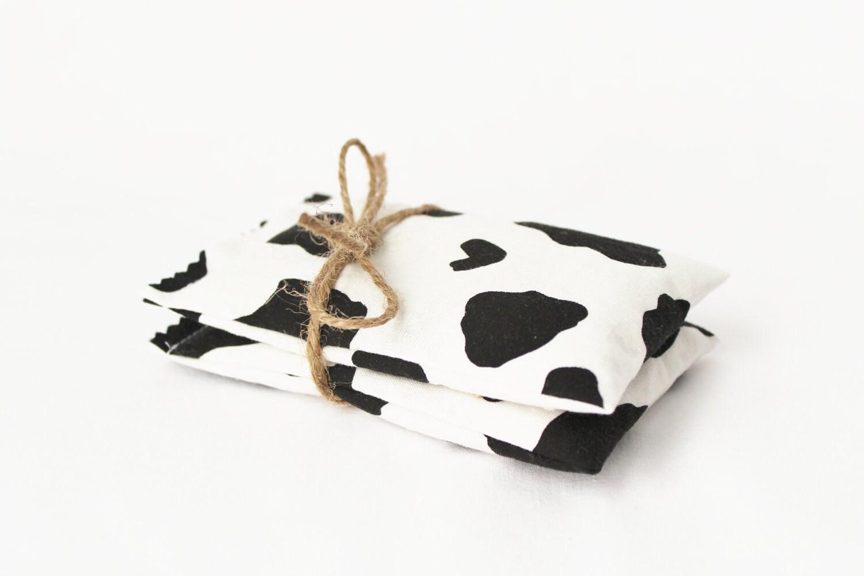 Black & White Lavender Sachets Animal Print Cow Pony Western Cowboy - gardenmis