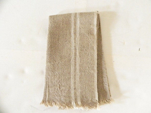 Set of six french vintage hemp table napkins ----free shipping------ - ChicFrangine