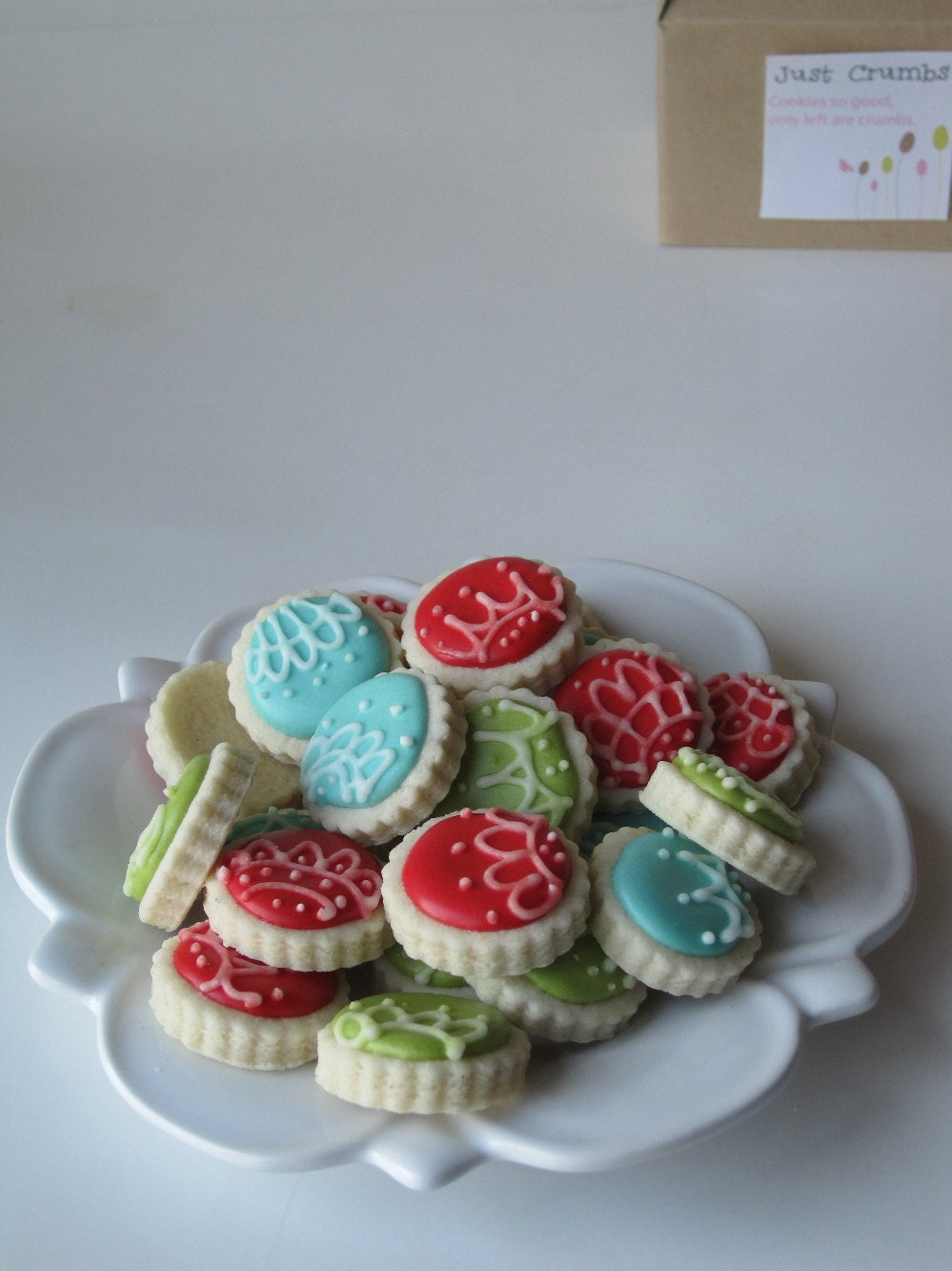 Oh so small ORNAMENTS sugar cookies -6 dozen