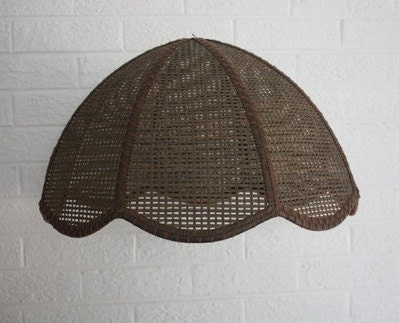 Vintage Wicker/Rattan Lampshade or Light Fixture