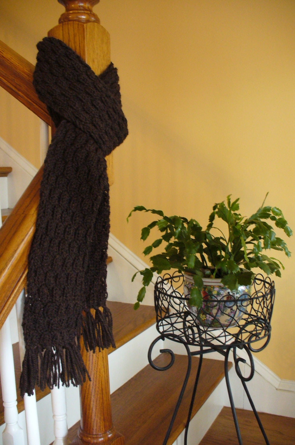 Hand Knitted Scarf for Men and Women by chesapeakecreations Hand Knitted Men's Scarves