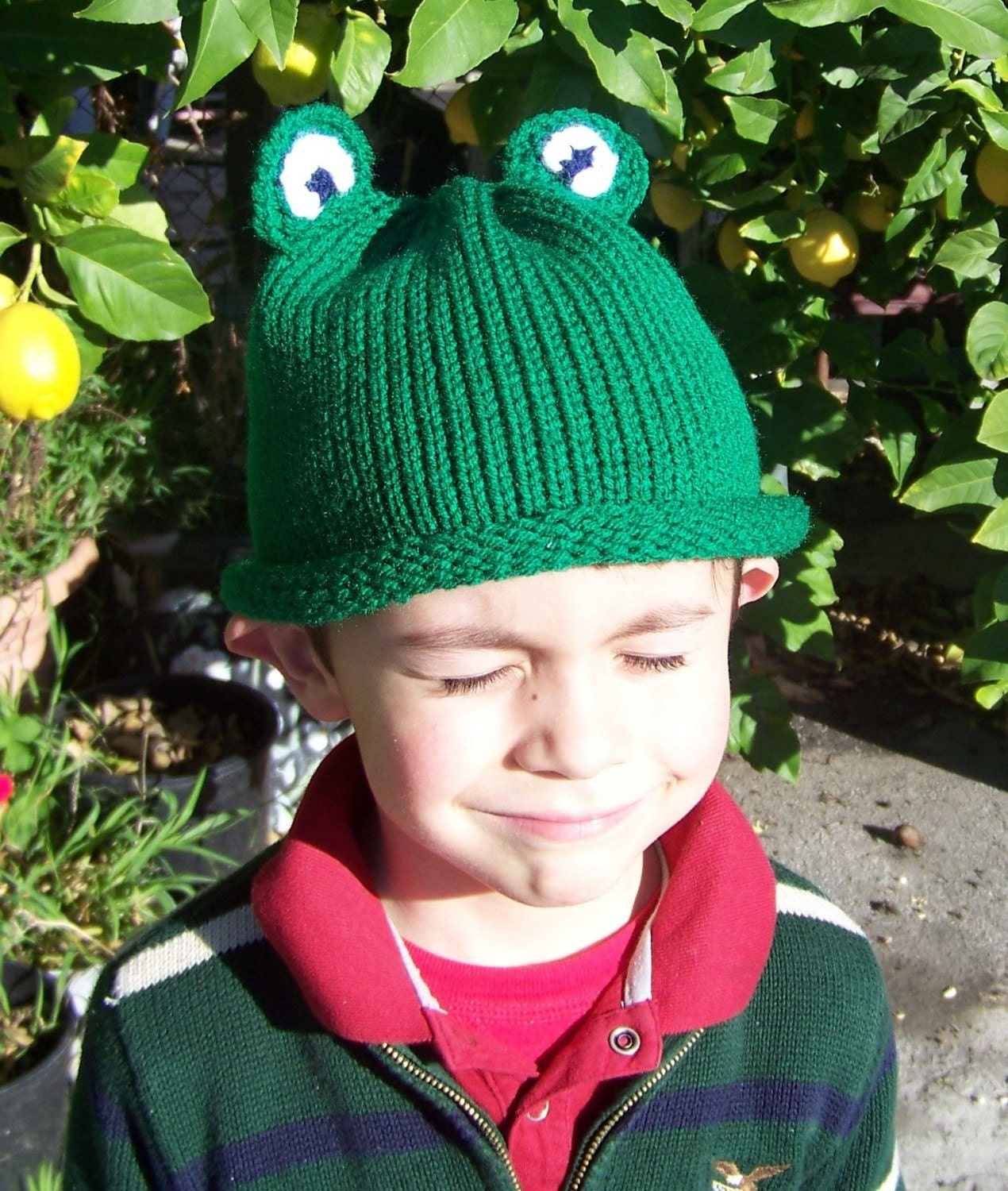 Baby Frog Hat Pattern