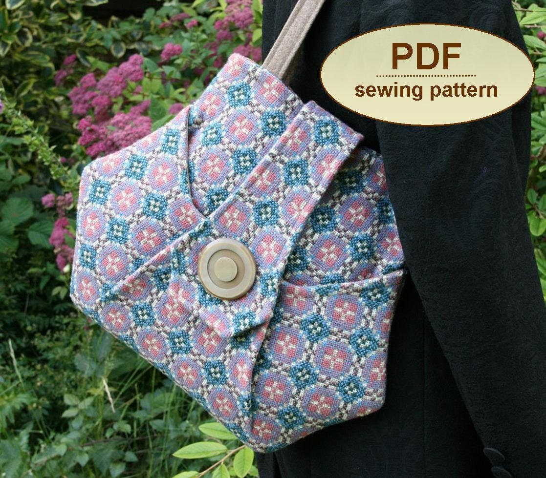 Sewing pattern to make the Kitchen Garden Bag - PDF (email delivery)