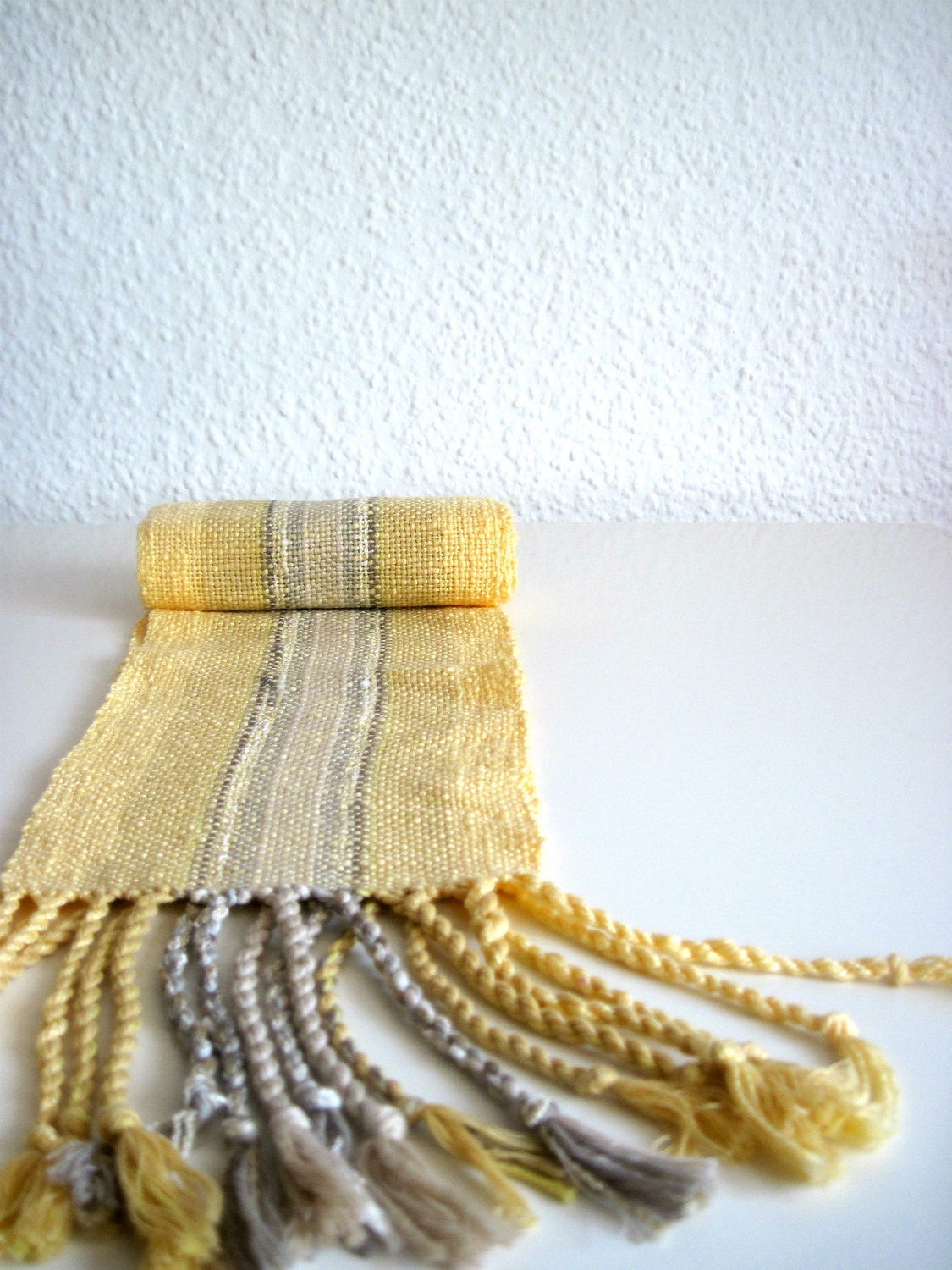 Handwoven Scarf 'Light and Simple' - SameheartDesigns