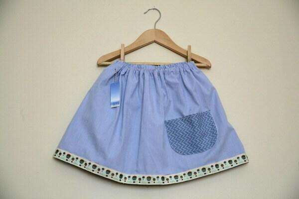 SALE Twirly Skirt in Summer Blues