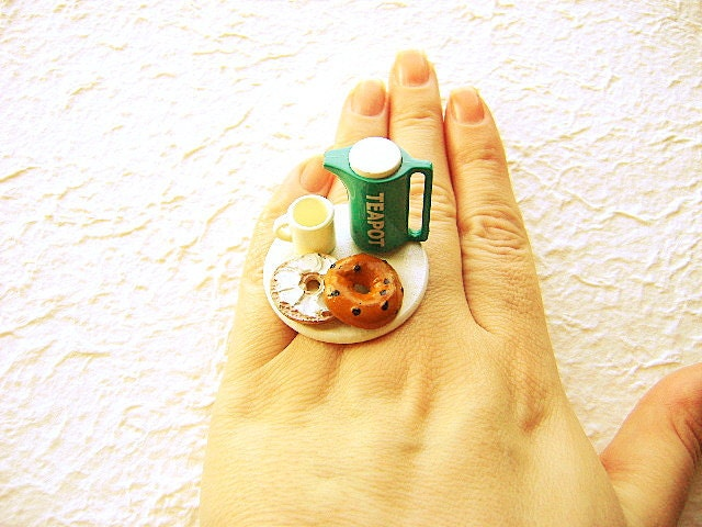 Tea Ring Kawaii Food Bagel