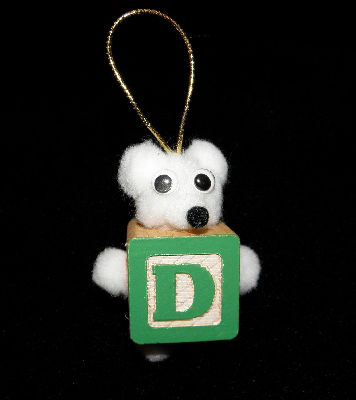 D Teddy Bear Block Ornament or Tag