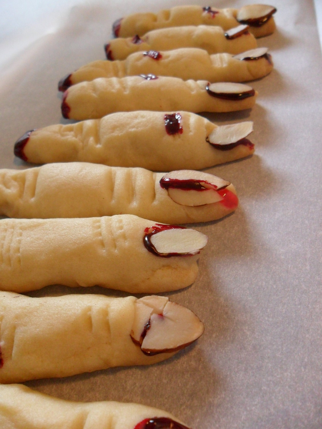 Eerie Severed Fingers Cookie Perfect for that Gory party and Halloween Great Party Favors