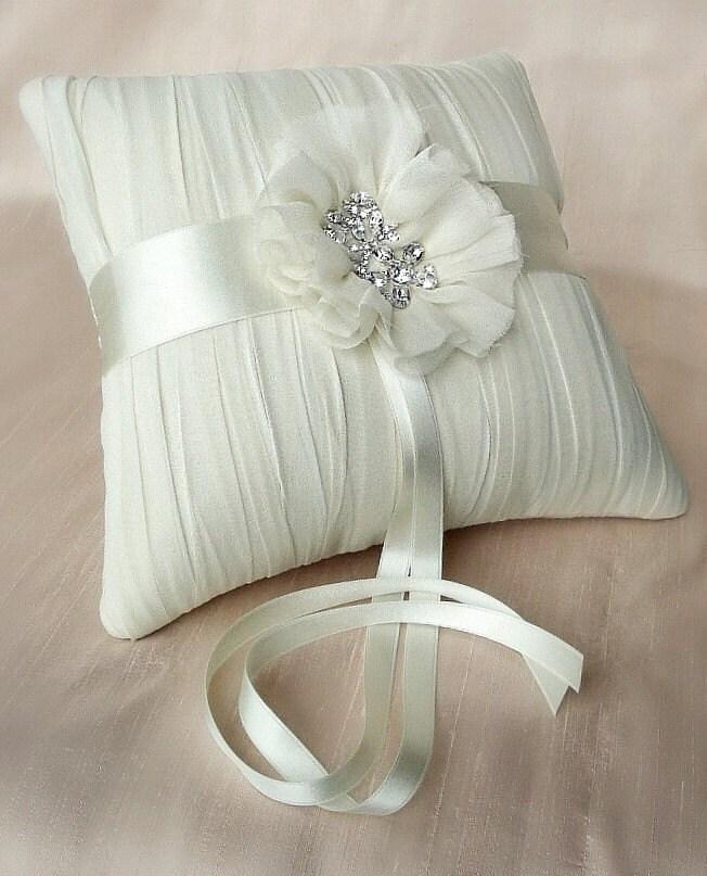 Кэролайн Шелковый Кот-шифон подушки кольцо на предъявителя
