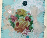 Shabby Roses Fabric and LaceTextile Collage