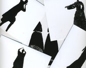 unruly shadow note cards