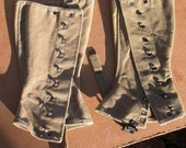 WW2 US Military canvas Spats gaiters dieselpunk steampunk costume 2
