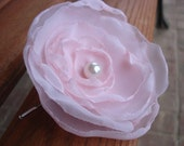 Light pink chiffon bobby pin