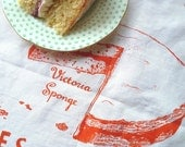 Cakes Of Britain Tea Towel